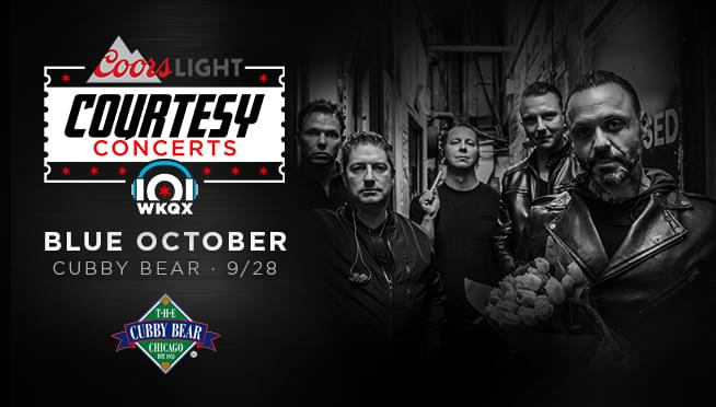 9/27/18 – Blue October Courtesy Concert Ticket Drop