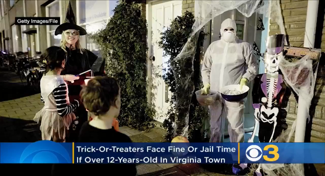 Happy Halloween? Law makes Trick-or-Treating illegal for anyone over 12 in Virginia town