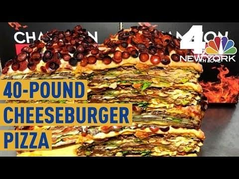 Would you eat a 40lb Cheesburger Pizza worth $2,000?