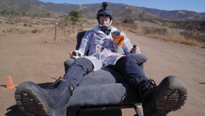 Sit Back & Hold On! High Speed OFF-ROAD Electric Recliner Race!!