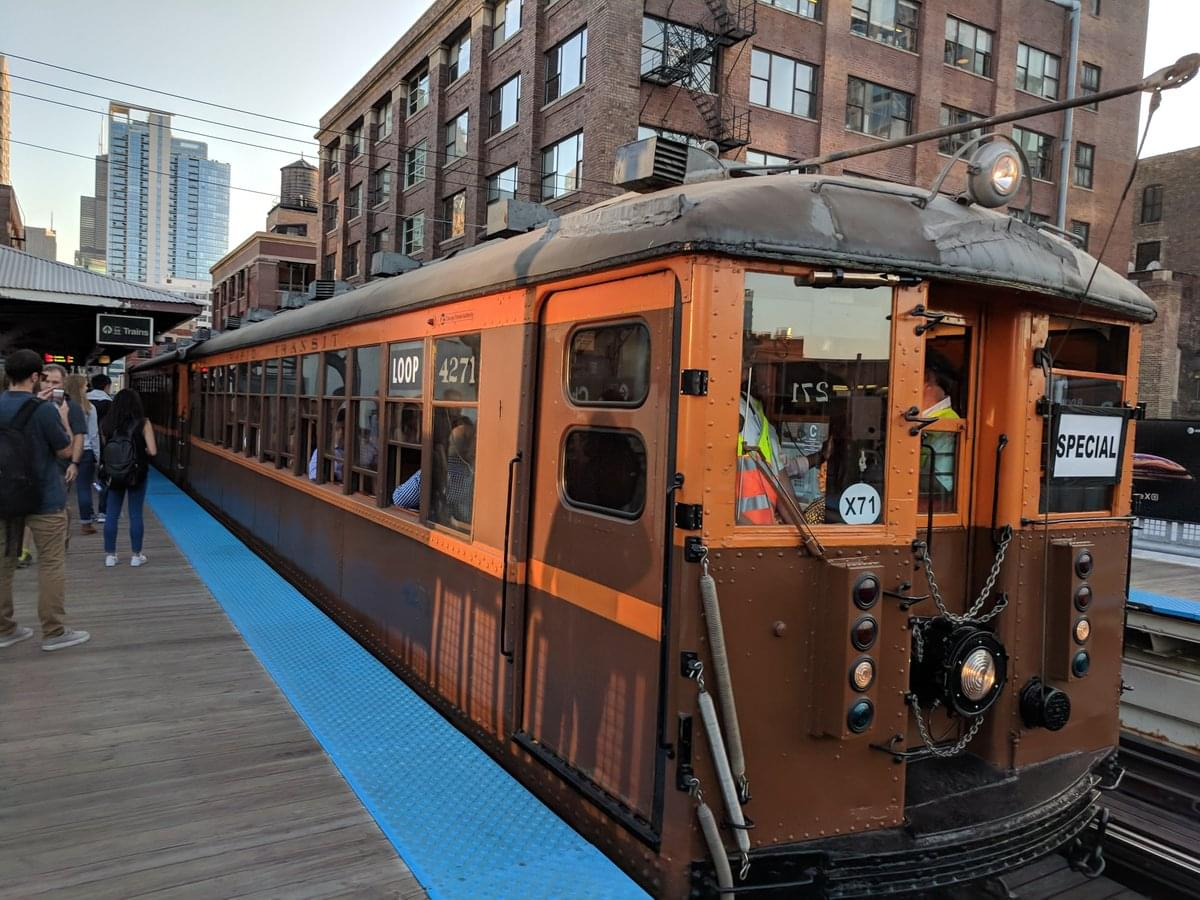 The CTA is offering rides on its retro 4000-series train cars Tomorrow.