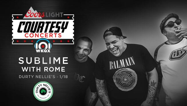 1/17/19 – Meet Justin from the KQX Morning Crew and pick up guaranteed entries to Sublime with Rome