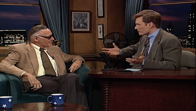 Watch Stan Lee and Conan O'Brien talk Marvel vs. DC