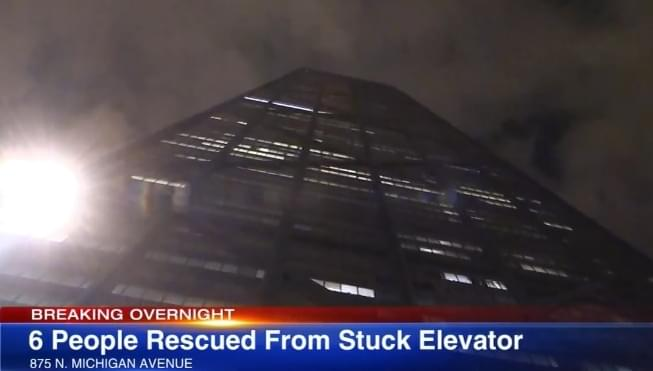 6 people trapped in Hancock building elevator