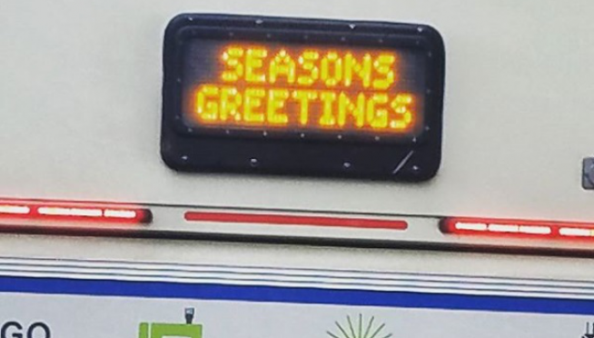Holiday Train & Bus Schedule!