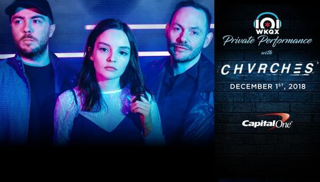 101WKQX: Watch CHVRCHES in an exclusive Private Performance