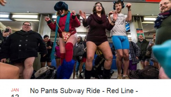 The No Pants CTA Ride is Sunday!
