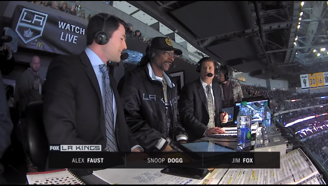 Forget nature narrations.  Watch Snoop Dogg call a live NHL game.