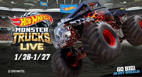 1/26/19 – 1/27/19 – Meet Brian from the KQX Morning Crew at Hot Wheels Monster Trucks LIVE