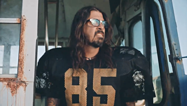 Foo Fighters in a football themed comedy to plug 'Super Saturday Night'