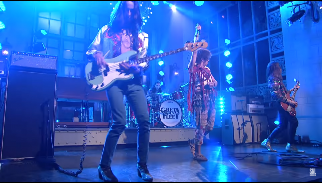 We DVR'd Greta Van Fleet on last night's SNL for you.