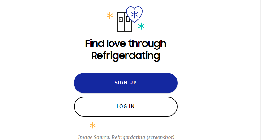 Samsung is trying to turn your refrigerator into a dating app, Refrigerdating.