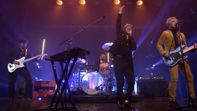 Watch the tv debut of Walk The Moon's Timebomb