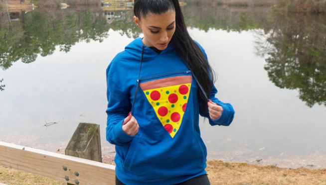 A New Hoodie Has a Built-In Pocket to Hold a Warm Slice of Pizza