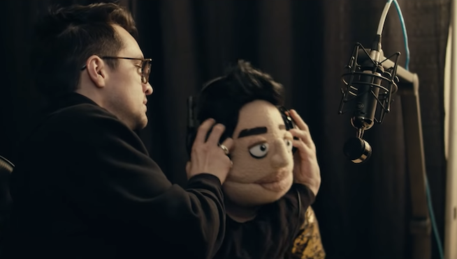 "Brendon Urie and ""The Amazing Beebo"" star in the new Panic! At The Disco music video"