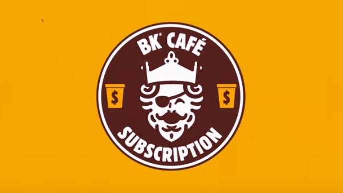 New coffee subscription with Burger King