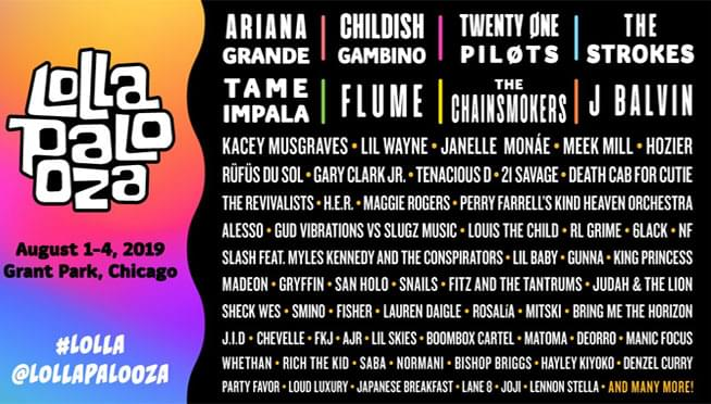 Your 2019 Lollapalooza daily schedule is here!