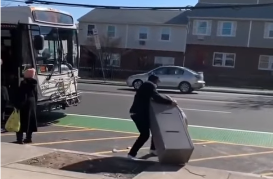 VIDEO: When stealing an ATM don't take it on the bus