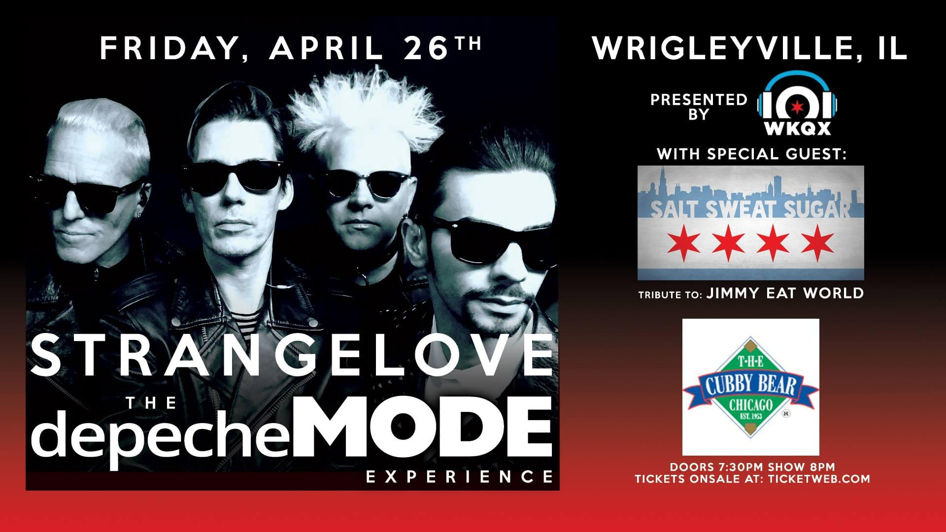 4/26/19 – STRANGELOVE The Depeche MODE Experience at Cubby Bear