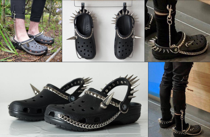 2019's must have accessory: Goth Crocs