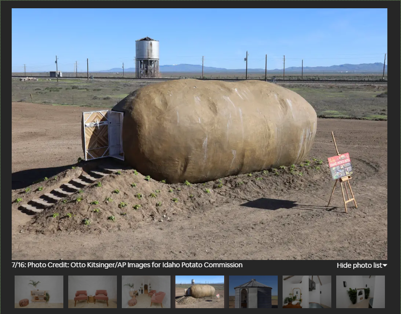 Ever wanted to sleep in a potato? Because now you can