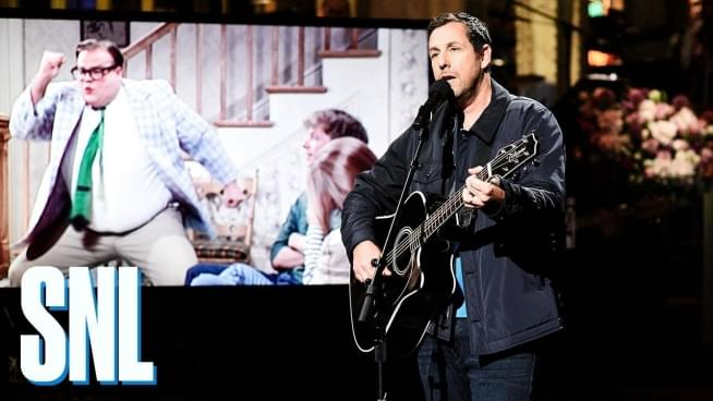 Adam Sandler makes us laugh and cry on SNL return