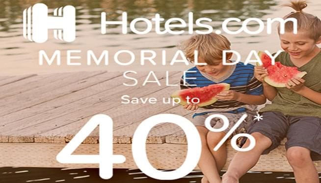 Win a $50 Hotels.com Gift Card for Memorial Day