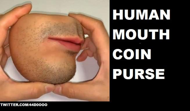 "You can not unsee the ""Human Skin Coin Purse"""