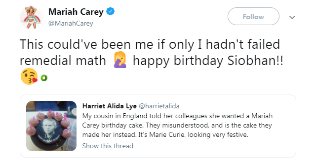 Mariah Carey and Marie Curie, they seem easily mistakable