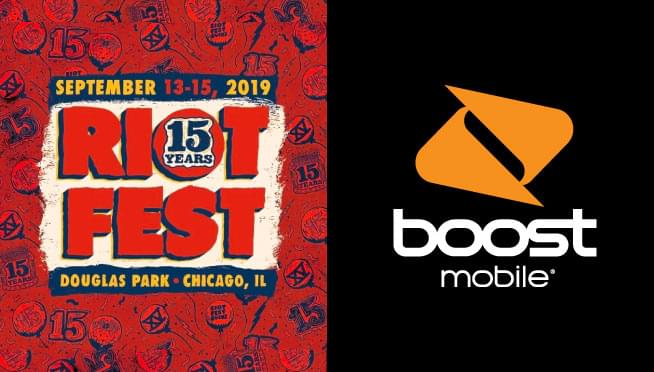 8/22/19 – Win 3 DAY RIOT FEST Passes at Boost Mobile!