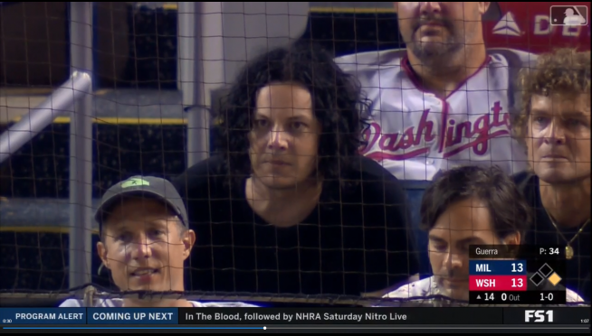 Jack White leaves baseball game for Raconteurs gig — then returns for extra innings.