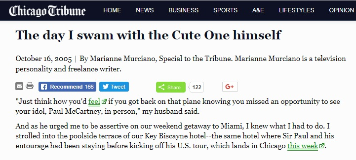The day I swam with the Cute One by Marianne Murciano