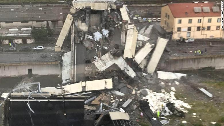 'At least 20 people dead' after highway bridge collapses in Italy