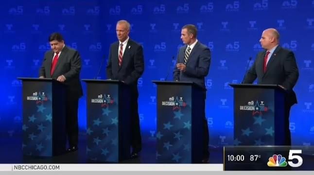 Illinois governor hopefuls clash on taxes, 'lies' at debate