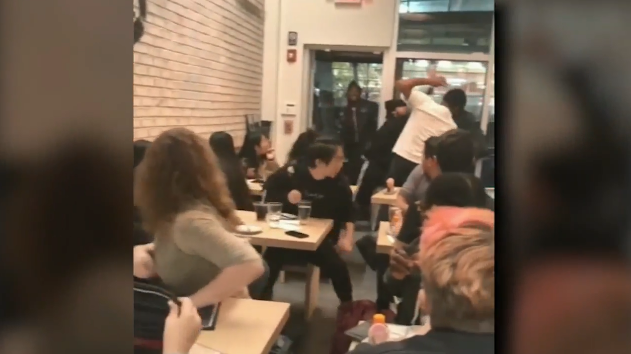Is this the sickest prank ever? Philly restaurant filling with terror after stabbing prank.