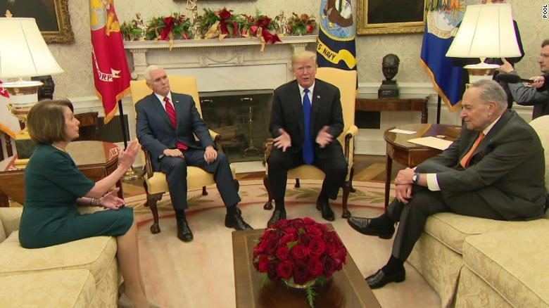 Trump clashes with Pelosi, Schumer in Oval Office meeting over border wall