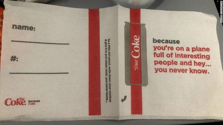 Delta and Coke apologize for 'creepy' napkins