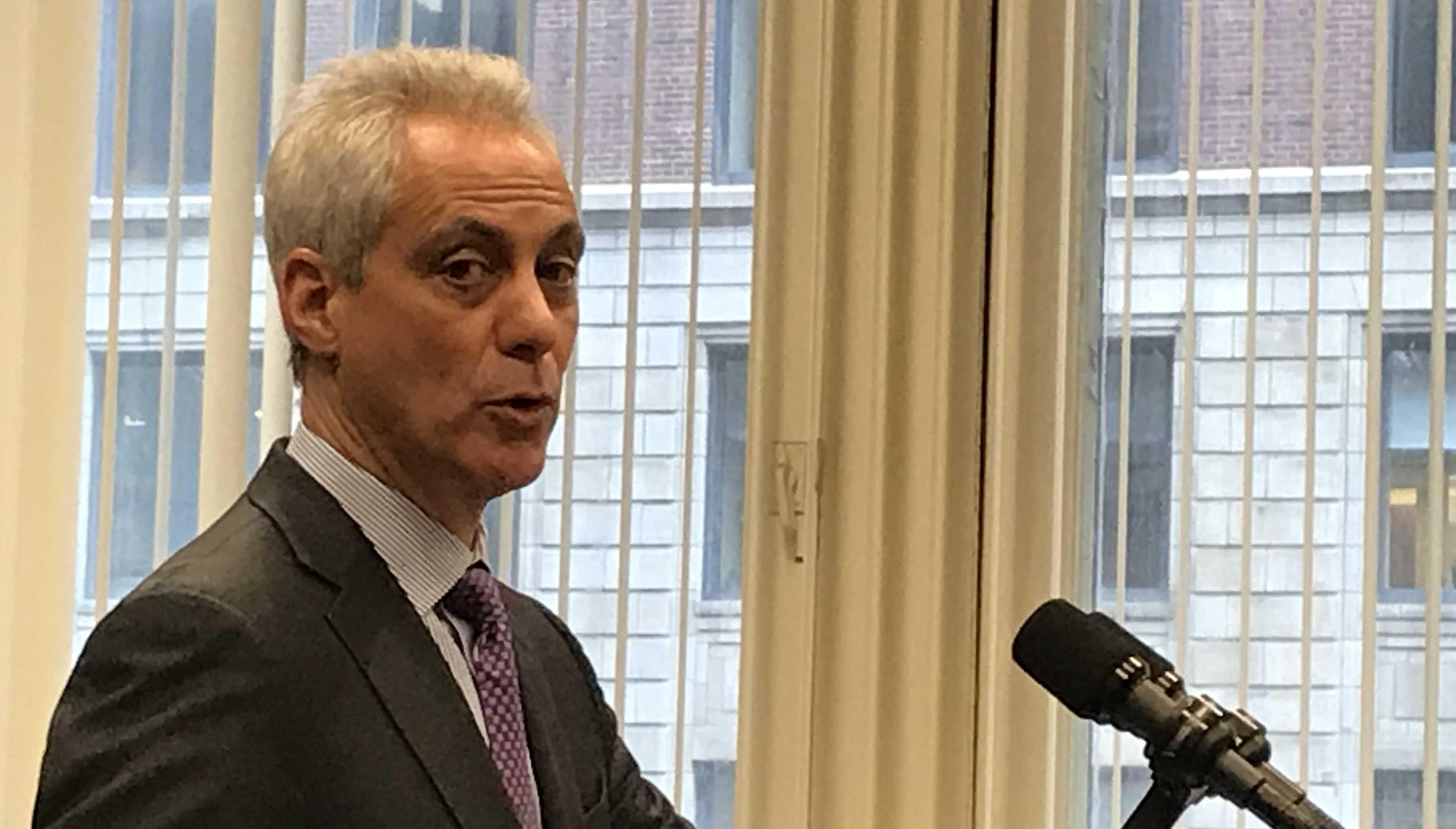 Rahm reveals ​what's next on his list of big ticket items before he leaves