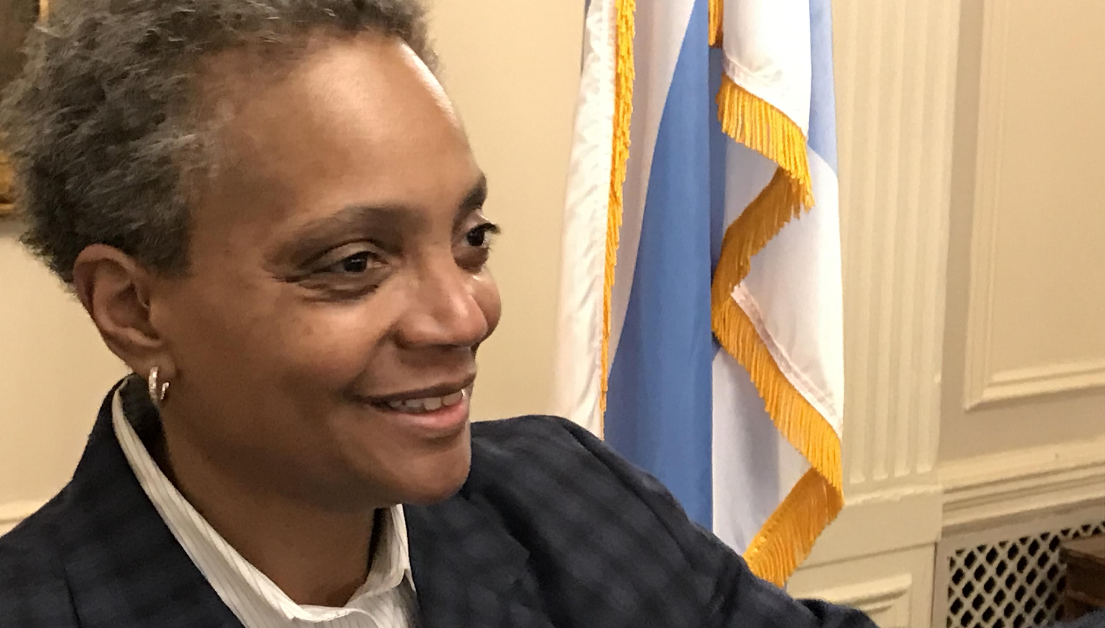 Confident ​Lightfoot talks about the kind of people she'd hire for top jobs