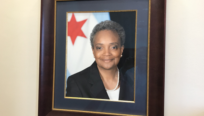 Mayor Lori Lightfoot's first full day at City Hall