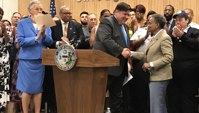 Good news & bad news from Gov Pritzker's Rebuild Illinois road show in Chicago