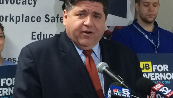 Gov Pritzker suffers hairline fracture of his left thigh bone