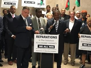 Slavery reparations commission demanded at City Hall