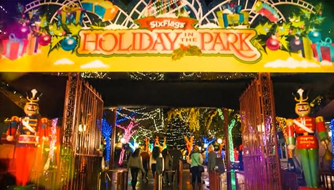 six flags great american has announced the park will stay open through the holiday season holiday at the park is the first time in 42 years that six flags