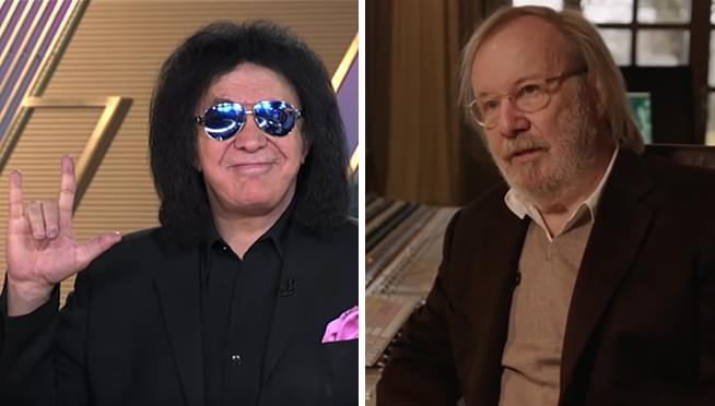 Gene Simmons is eager to write songs with ABBA's Benny Andersson