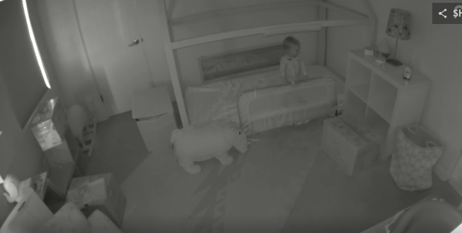Mom and Dad couldn't figure out how their toddler was leaving her room every night. Then they put in a camera…