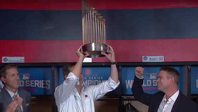 Where can you see two World Series Trophies this weekend?