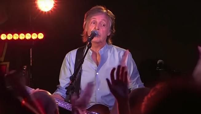 Paul McCartney caught making his own flattened guitar picks on train tracks?