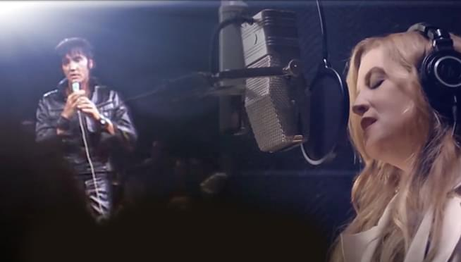 Elvis & Lisa Marie Presley duet on 'Where No One Stands Alone'