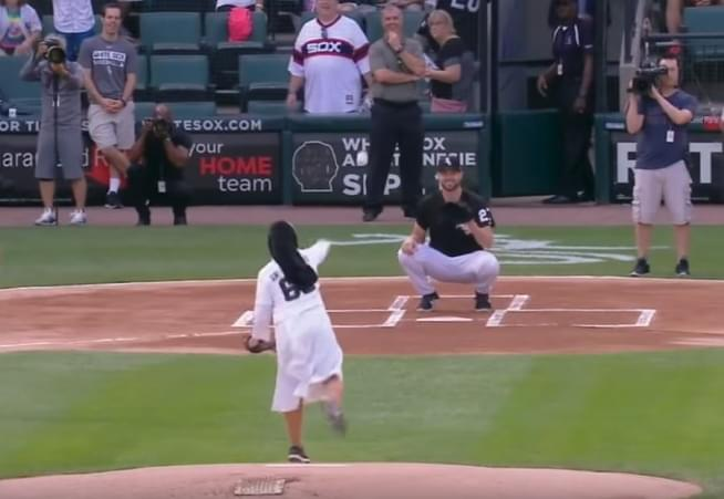 Sister Mary Sobieck Throws A Heck Of A Pitch At White Sox Game!